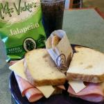 Ham & Swiss on Sourdough with Signature Chocolate Chip Cookie
