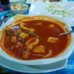 Perhentian style soup at Ewan's restaurant - yummy