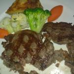 Simple Servings my thinly sliced Wagyu grilled to Medium Rare
