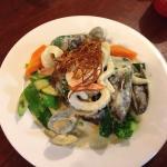 Garlic Prawns and Beef & Reef for lunch❤️ Yummy!!
