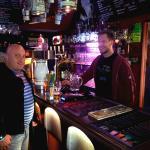 Barman with habitue