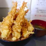海老天6本入りの極・海老天丼(700円)