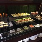Some of the 'canapes' provided within the Club Rotana package