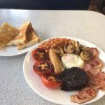 Set breakfast with optional black pudding £6.35