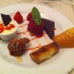 Veau/ volaille / desserts et bons vins