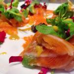 Salmone marinato dell'EX