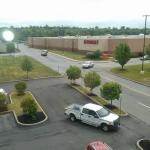 Foto tirada da janela do hotel