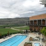 Overlooking the pool