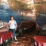 Well this is a great lunch stop for many sandwiches and panini. It has a cool painted hall from