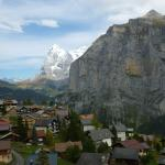 View from our Balcony of Murren and beyond
