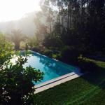 het zwembad vanaf balkon Pombal