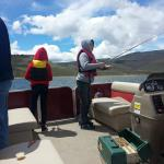 Fishing in our free Pontoon boat on Blue Mesa