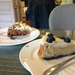 cakes - sour cream and blueberry and carrot cake