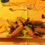 Gamberi in pasta filo