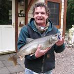 Rusty had fun landing this lake trout.