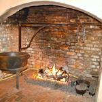 Original Kitchen Fireplace in Pub Area