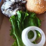 Mushroom burger w/ Swiss chese