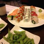 $17.99 (3 rools, 4 sushi pieces, 1 app), or pay $2 more for all you can eat (with penalty for le