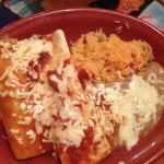 Combination platter with enchilada and burrito