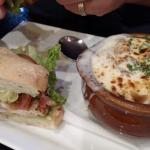Tuscan Chicken sandwhich & French Onion Soup