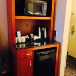 Microwave, Coffee Machine & Mini Fridge