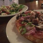 Pizza and a salad