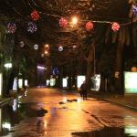 Ночная дорога из отеля в Старый город
