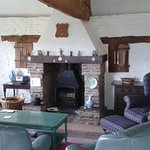 Living space in Owl Grove cottage