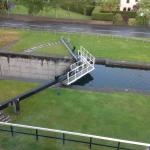 Canal lock right outside our room