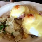 Different styles of eggs Benedict for brunch