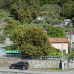 Sicht auf Campingplatz von der Eisenbahnbrücke (gezoomt)