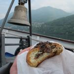 Our Nutella croissant... on the go on Lake Como!