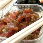 Tuna poke and snapper! Delicious and fresh!