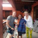 Buying items from a Mayan woman