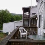 View of deck on back of building