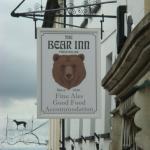 Sign post for the Bear Inn