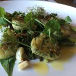 Wild garlic gnocchi with buttered asparagus - fantastic