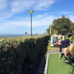 Hole in one on the beachfront 13th