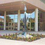 Sculpture at entrance