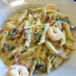Shrimp pasta was awesome.