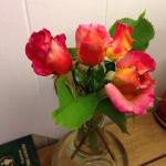 We had fresh rosebuds in our room, table service complete with candle and matches, wine and tea