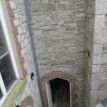 Looking down hidden entrance