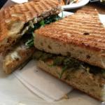 Fried Seitan Medallion panini