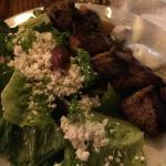 lamb souvlaki dinner