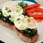 Poach Egg and Spinach on Crispy Sour Dough