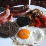 Traditional Scottish fry up for breakfast
