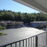 View of breakfast building.