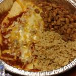 Cheese Enchilada Platter (with rice and pinto beans)