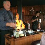 Tableside flambe.