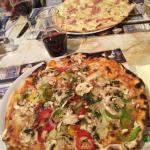 Veggie Pizza and the special of the day... Flammkuchen!
